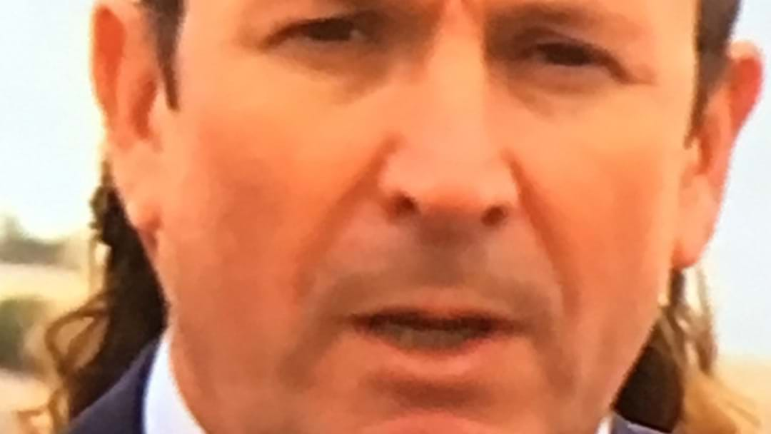 Is Mark McGowan Sporting A Beautifully Glorious Mullet?