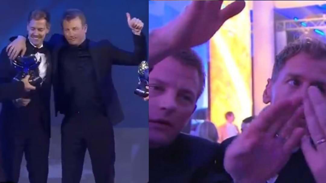F1 Legend Kimi Raikkonen Got Plastered On Live TV At The FIA Awards Night