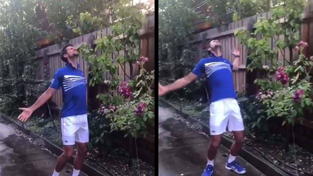 WATCH | Novak Djokovic Just Discovered How Glorious Running Under Sprinklers Can Be