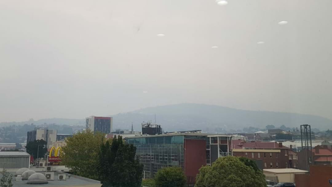 Parts of Tassie's air quality currently one of the worst in the world