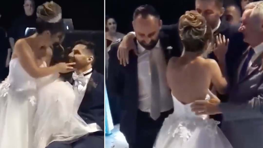 Hearts Are Melting As Wheelchair Bound Groom Gets Up For His Bridal Waltz