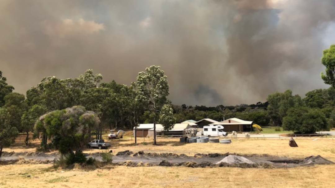 Pete Had To Cut His Shift Short Because Of A Bushfire Warning At His House