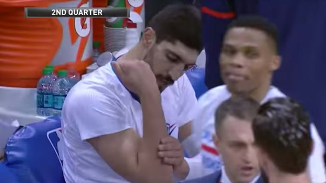 NBA Player Punches A Chair And Breaks His Arm