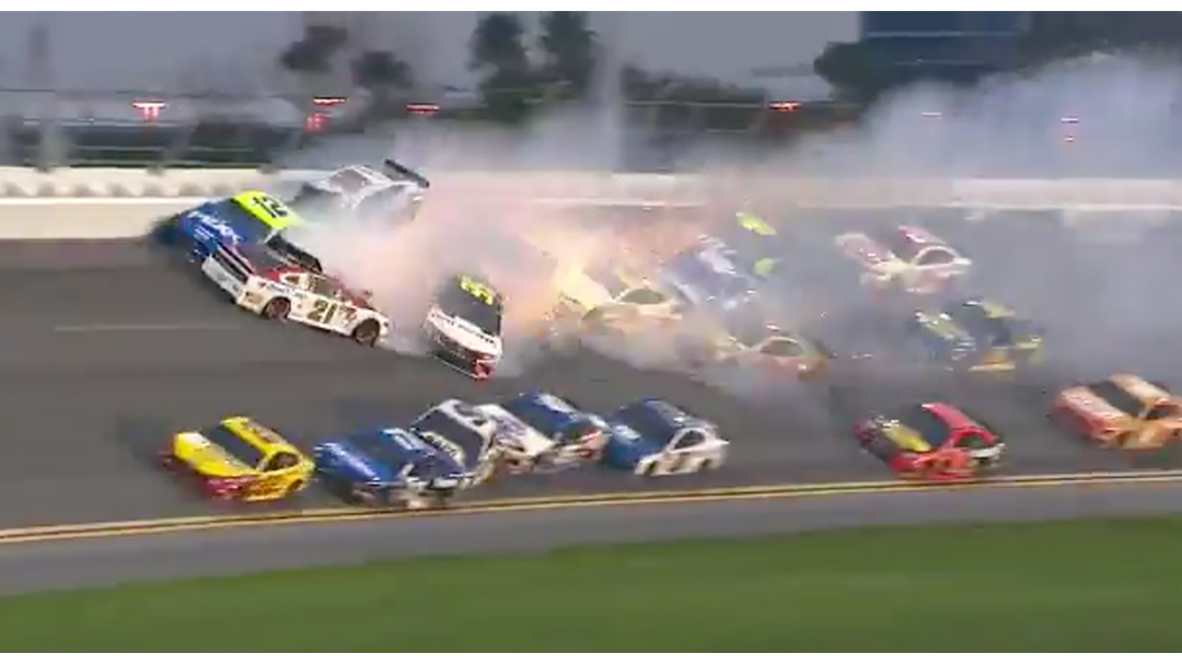 This 21 Car Pile-Up Almost Makes NASCAR Worth Watching