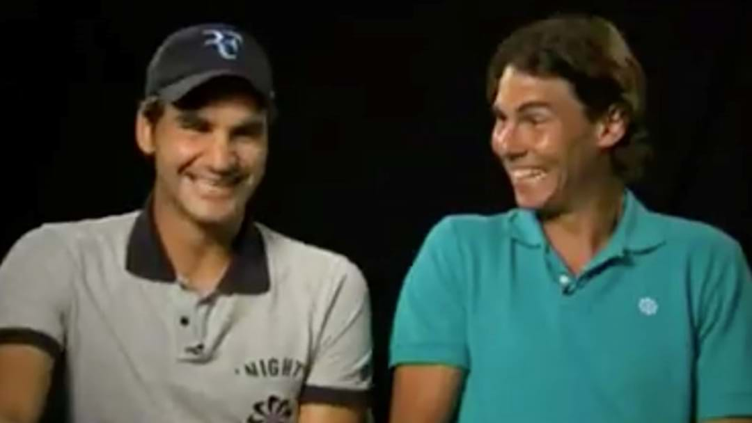 Check Out This Grouse Video Of Nadal And Federer Stuffing Up Filming An Ad
