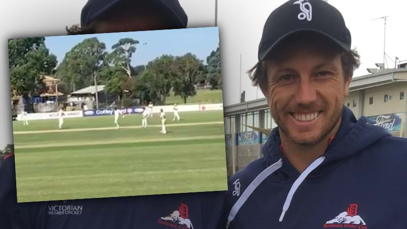 Article heading image for James Pattinson Goes Insane With The Bat Again