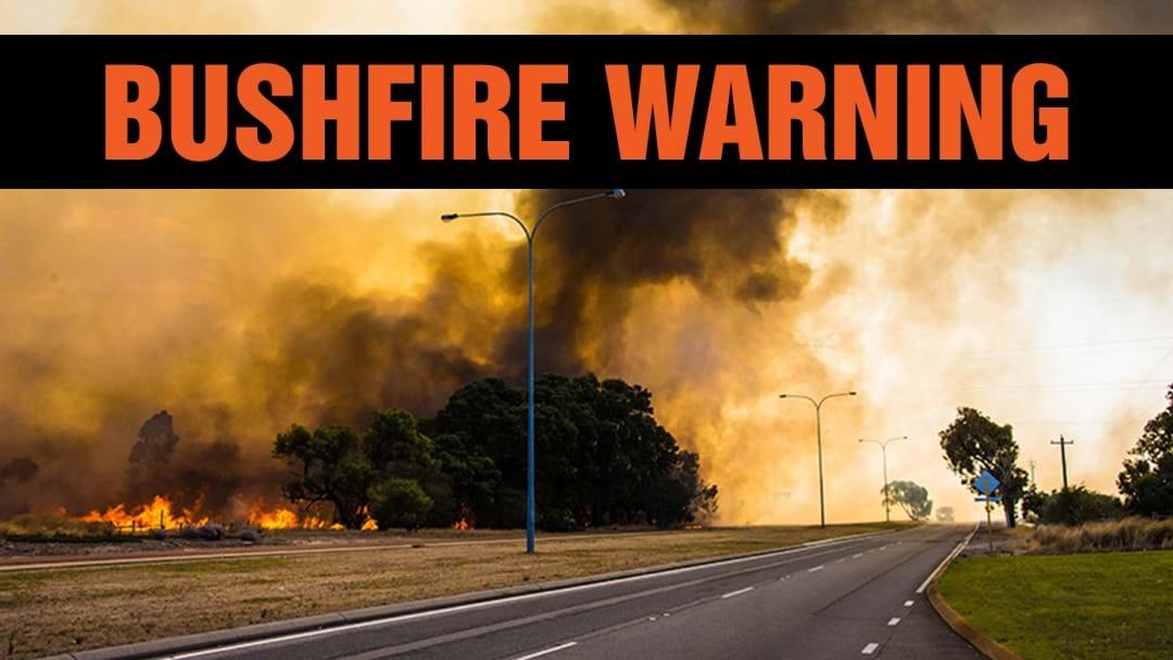 Emergency Warning For Bushfire At Shoreham, On Mornington Peninsula