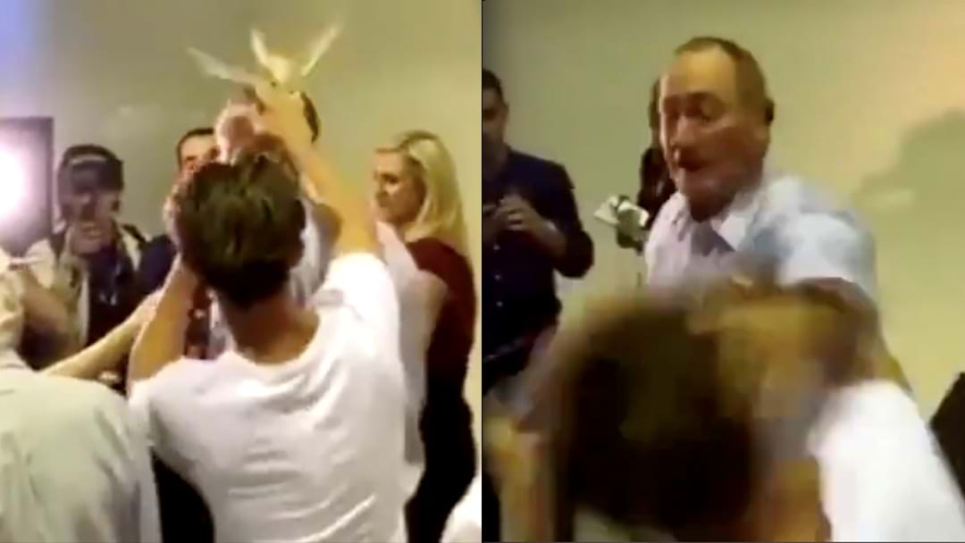 Fraser Anning Egged By Young Man At Press Conference In Melbourne