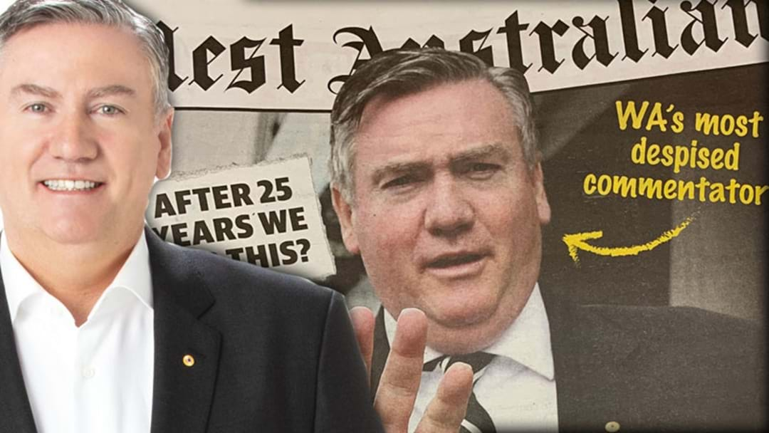 Eddie Brushes Off The West's Harsh Front Page Cover
