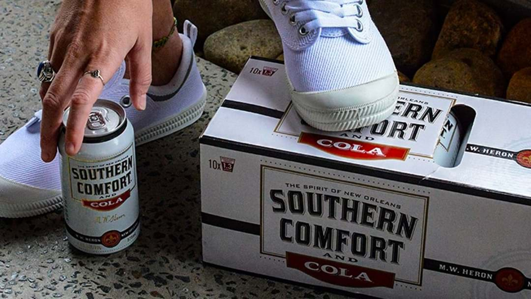 Bloody Hell... They're Giving Away A Free Pair Of Volleys When You Buy A 10 Pack Of Southern Comfort