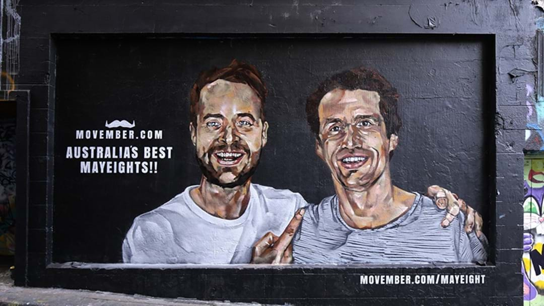 Hamish And Andy Want You To Talk To Your Mates In Movember Mural