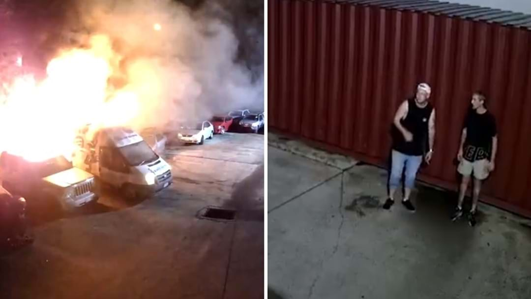 WATCH: Pair Break Into Molendinar Car Yard, Cause Havoc