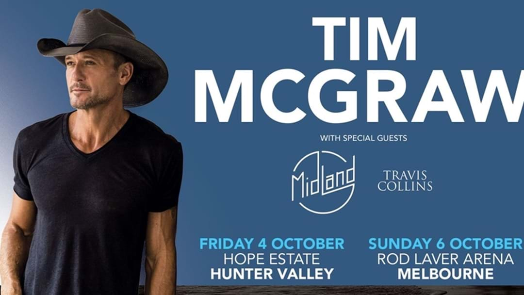 Tim McGraw Announces Australian Headline Shows
