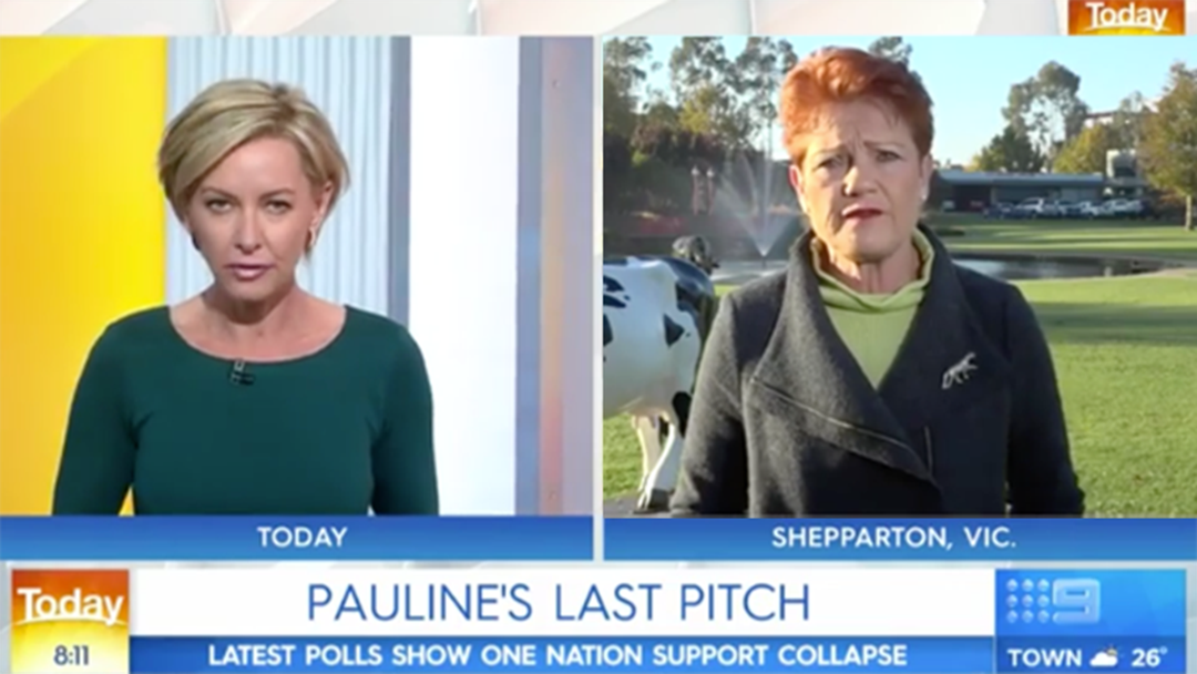 Pauline Hanson Savages Today Show Host Deborah Knight During Live Cross