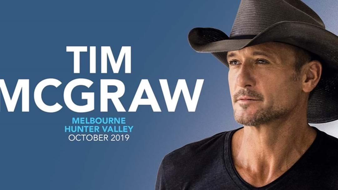 Tim McGraw's Sydney & Melbourne Headline Shows On SALE NOW!