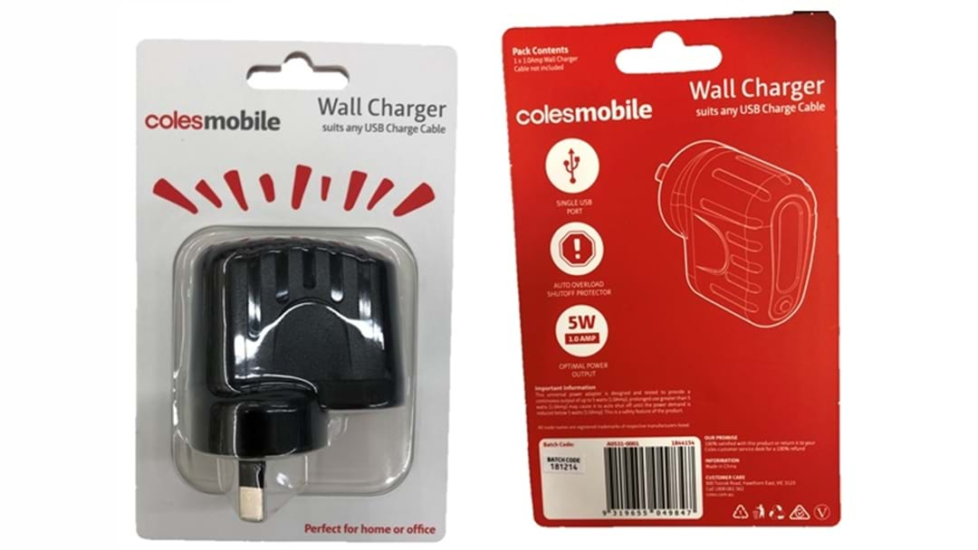 Coles Mobile USB Wall Charger Recall