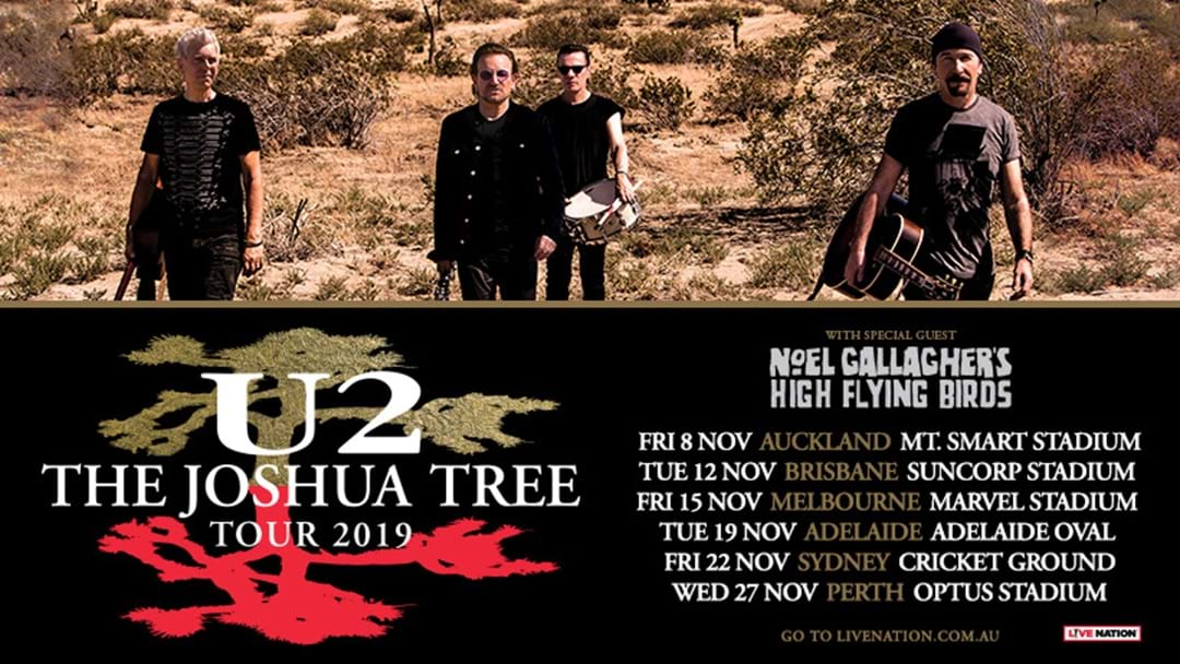 U2 Are Bringing The Joshua Tree Tour Down Under This Year!
