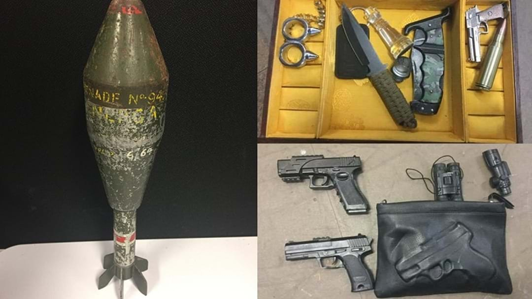Military Grade Mortar, Guns And Drugs Found In Nerang Storage Shed