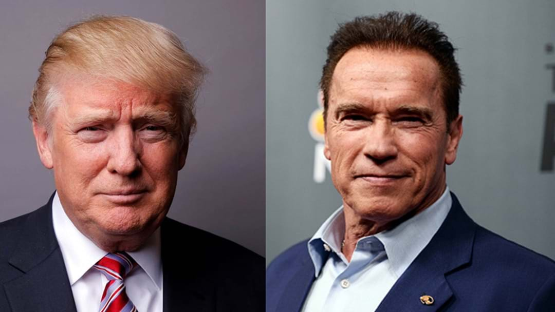 Arnie Fires Back At Trump