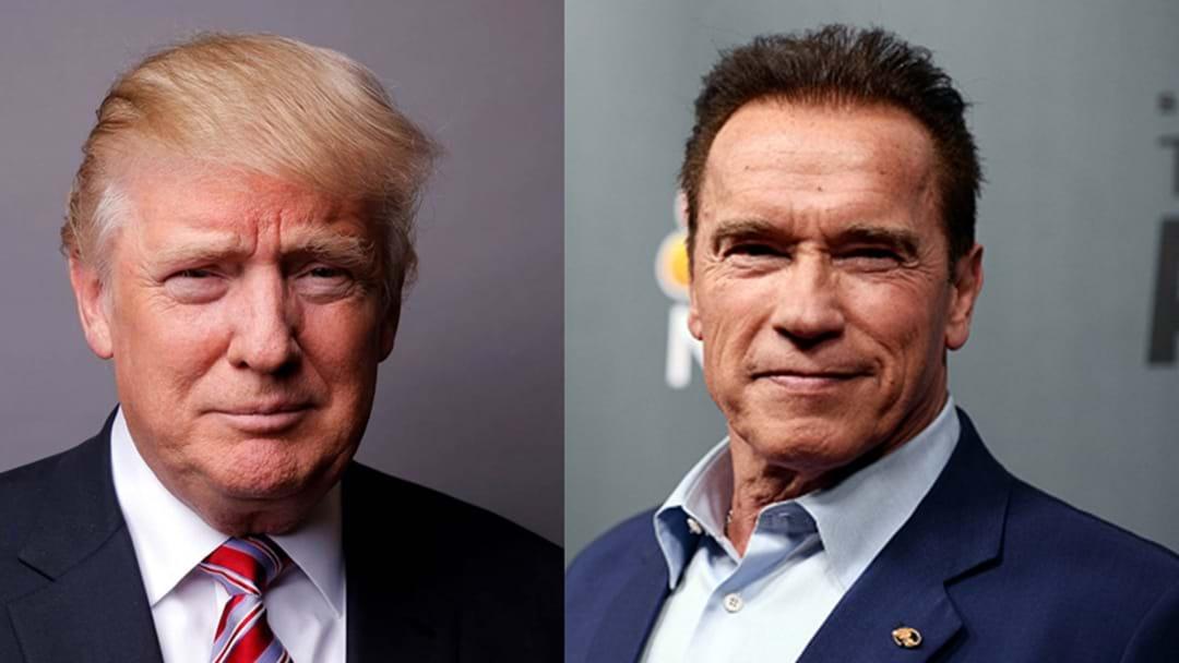 Arnie Fires Back At Trump