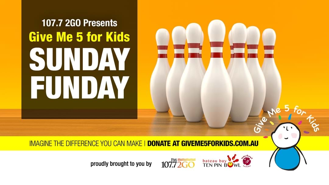 Give Me 5 For Kids Sunday Funday At Bateau Bay Ten Pin Bowl!