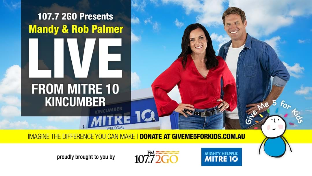 Give 5 For Kids At Mitre 10 Kincumber!