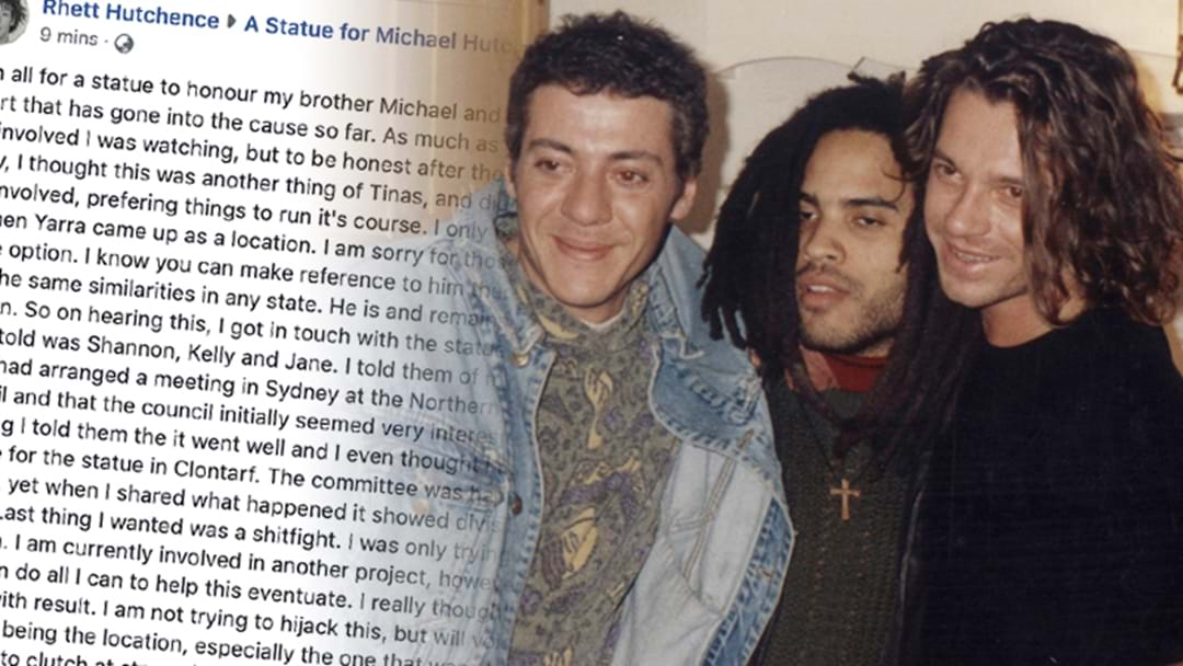 Michael Hutchence's Brother Is Pushing For The Hutchence Statue To Live In Sydney, NOT Melbourne