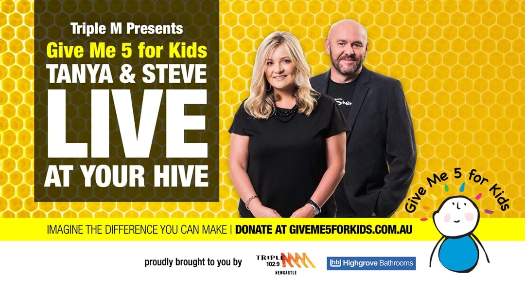 Tanya and Steve Live at Your Hive for Give Me 5