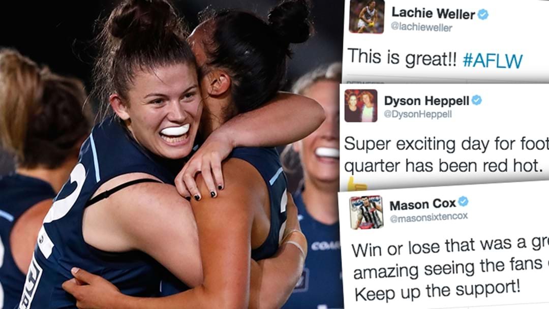 AFL Players React To The First Ever AFLW Match