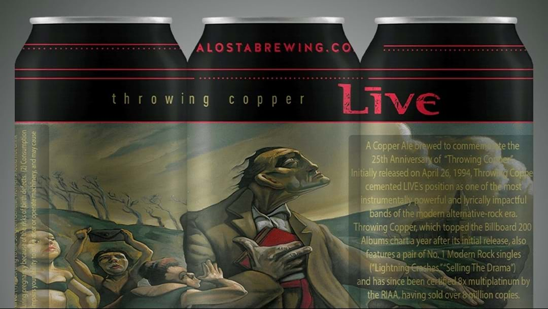 Live Release Limited Edition Throwing Copper Beer