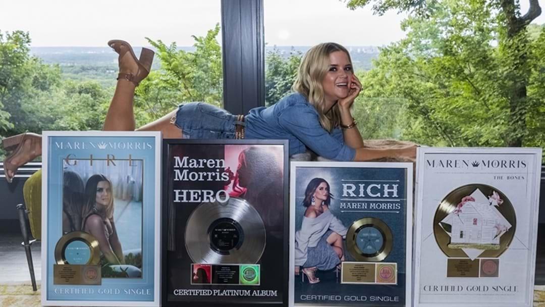 Maren Morris Surprised with Plaques Commemorating RIAA Certifications