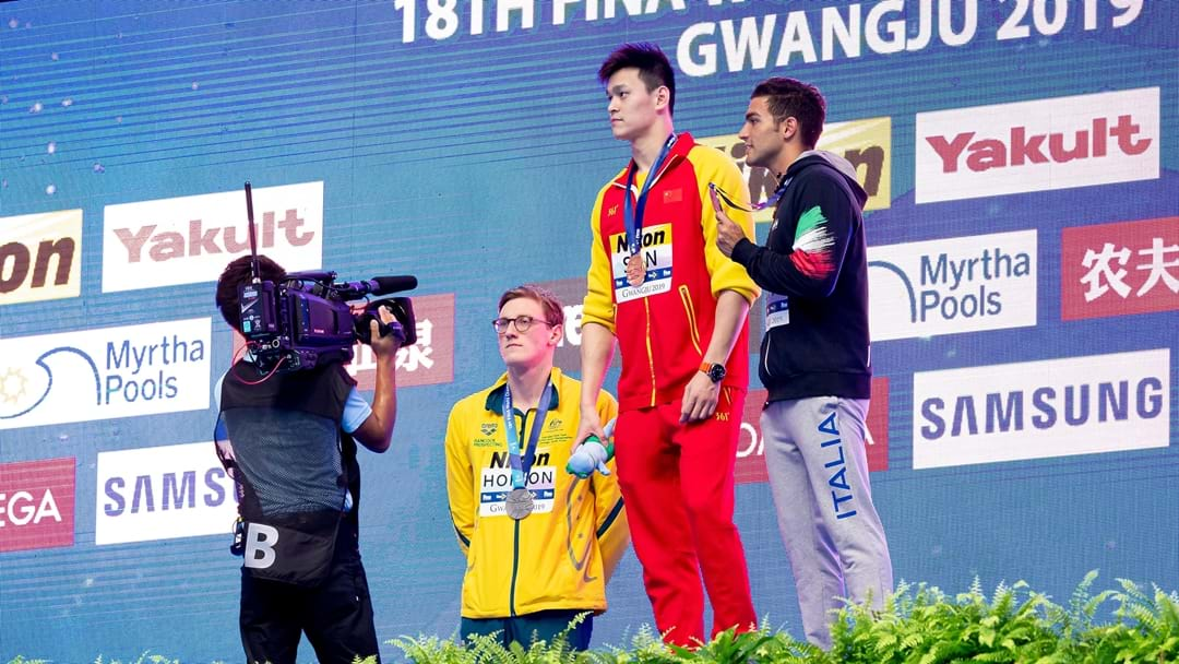 Mack Horton Refuses To Stand On Podium With Chinese Swimmer Embroiled In Drug Controversy