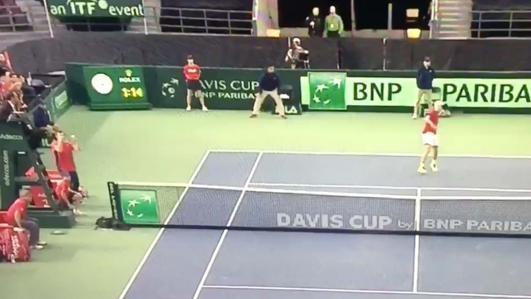 Great Britain Beat Canada In Davis Cup After Player Smashes Ball Into UMPIRE'S FACE