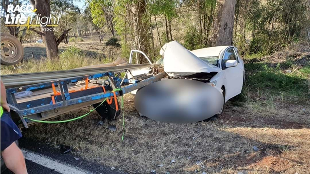 Two Vehicle Crash North of Crows Nest Closes Highway