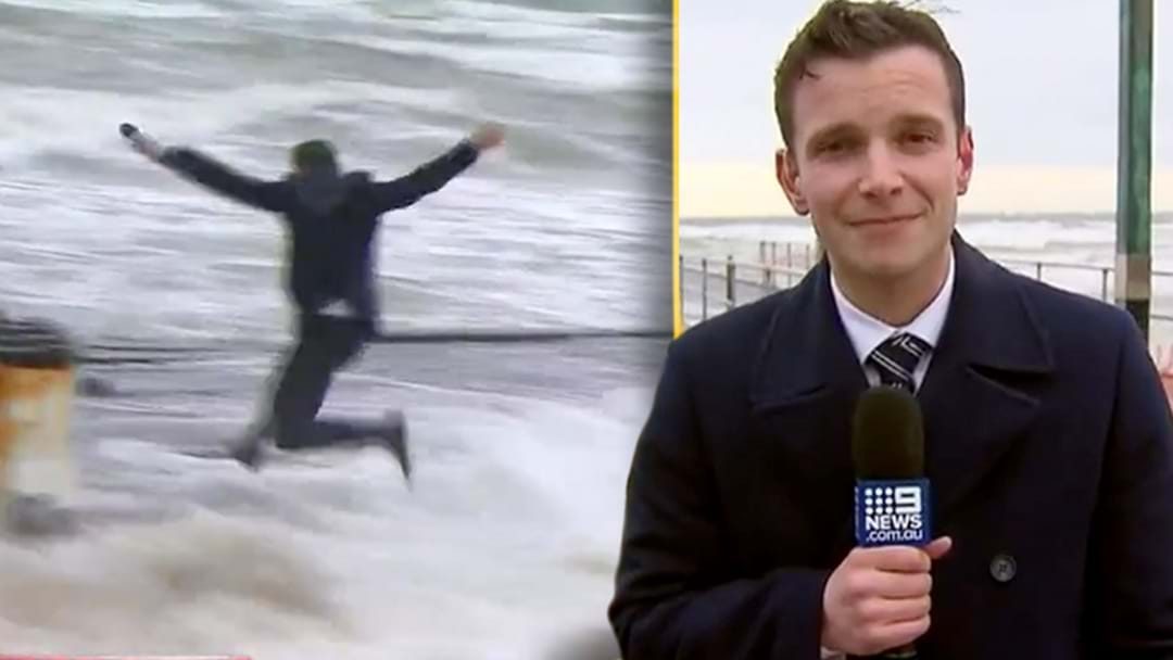 Channel 9's Mark Santomartino Explains What The Hell He Was Doing Jumping On Frankston Pier