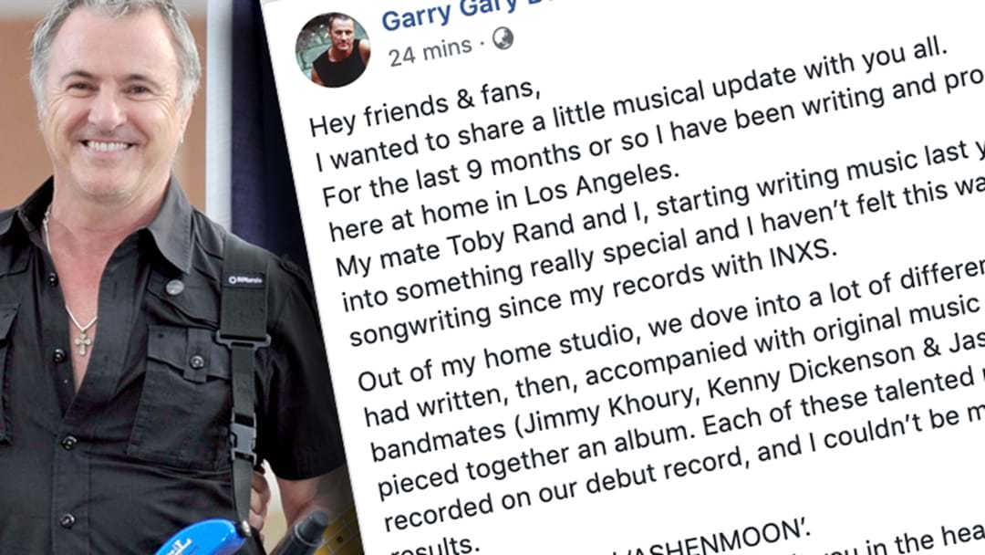 INXS Bassist Garry Gary Beers Formally Announces He's Started A New Rock Band
