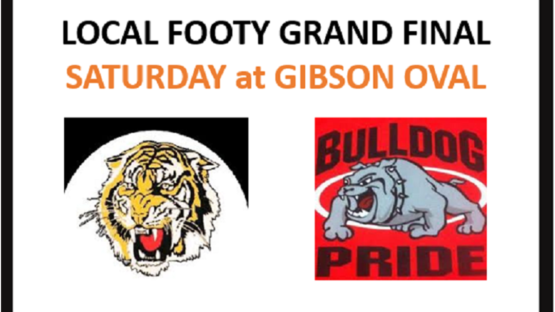 Your Favourite Team in the LOCAL FOOTY GRAND FINALS this weekend!