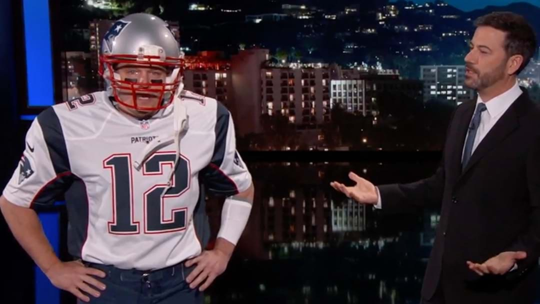 Matt Damon Sneaks His Way Back Onto Jimmy Kimmel Dressed As Tom Brady
