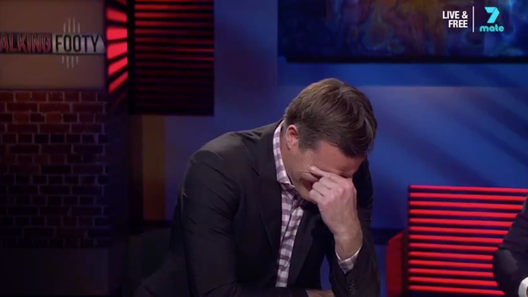 Luke Darcy Went Full Billy Brownless At The End Of Last Night's 'Talking Footy'