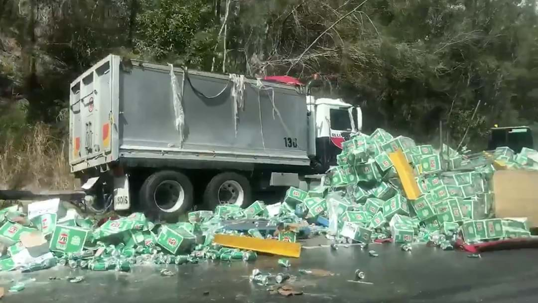 An Absolute Tragedy: Truck Carrying Boatloads Of VB Crashes In New South Wales