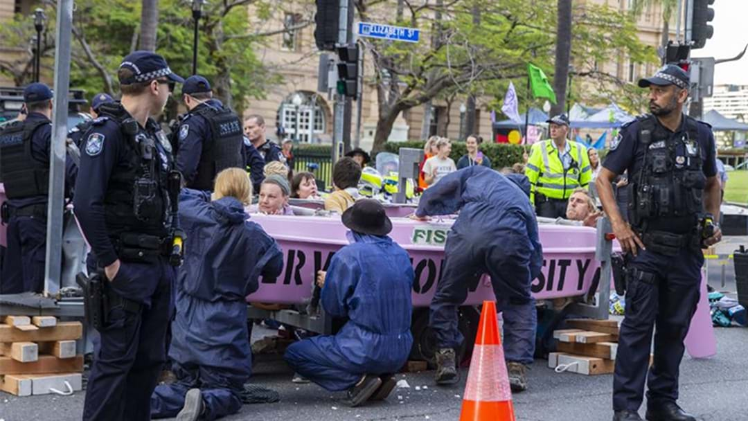 The Latest On The Extinction Rebellion Protest In Brisbane