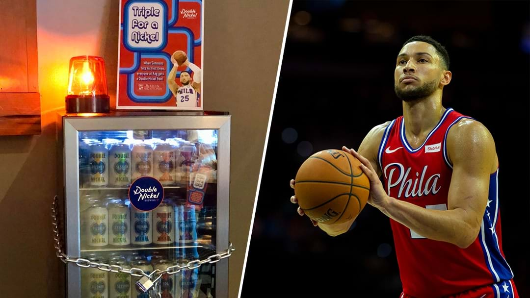 A Bar In The US Is Offering Free Beer When Ben Simmons Hits His First 3-Pointer