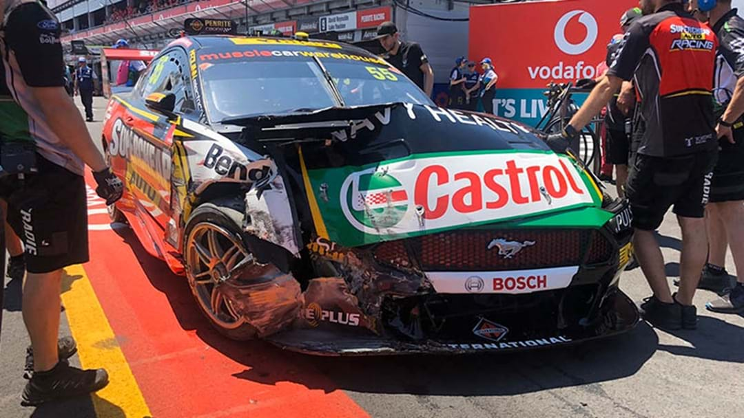 Chaz Mostert's Ford Mustang Declared A Write-Off Following Top 10 Shootout Crash