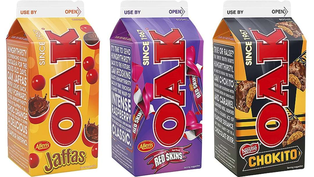 Oak Have Released A Range Of Flavoured Milk Based On Aussie Lollies