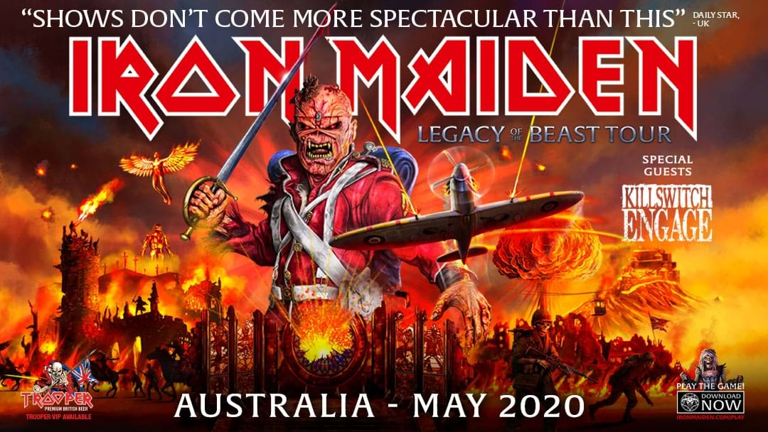 Win Tickets To See Iron Maiden Live On Their Legacy Of The Beast 2020 Australian Tour!