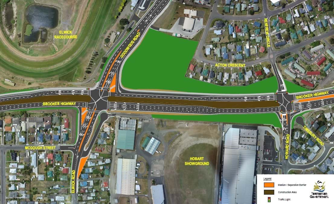 Brooker Highway - New Goodwood Road / Elwick Road Intersection & New Howard Road / Renfrew Circle Intersection