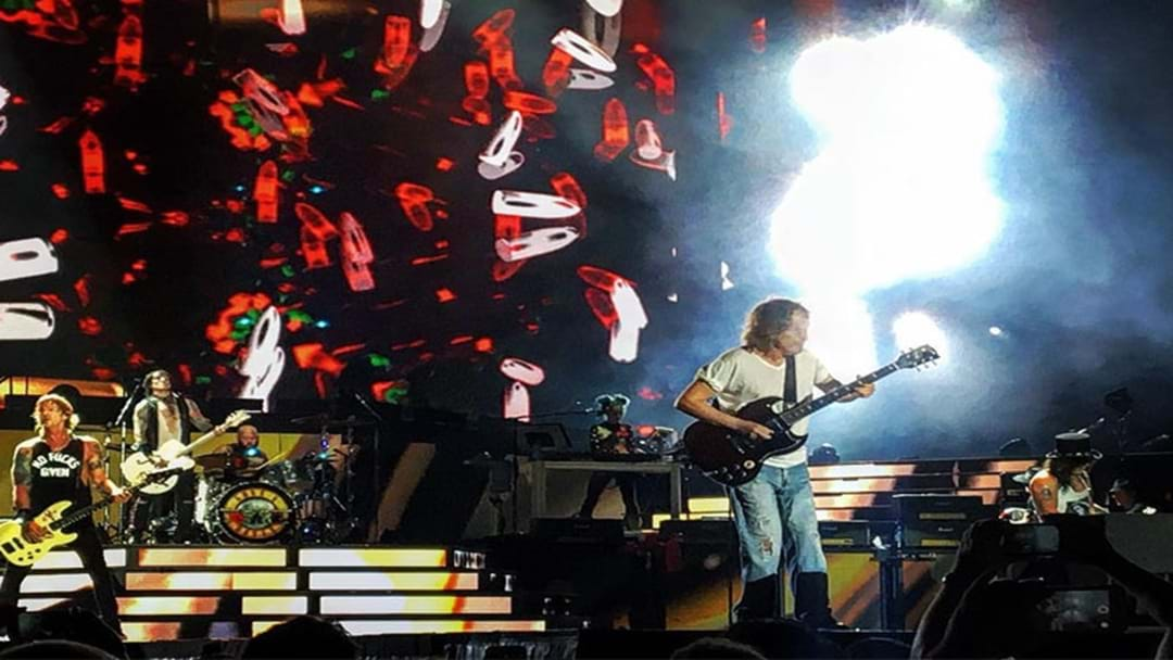 Sydney Goes Wild As Angus Young From AC/DC Joins Guns N' Roses On Stage