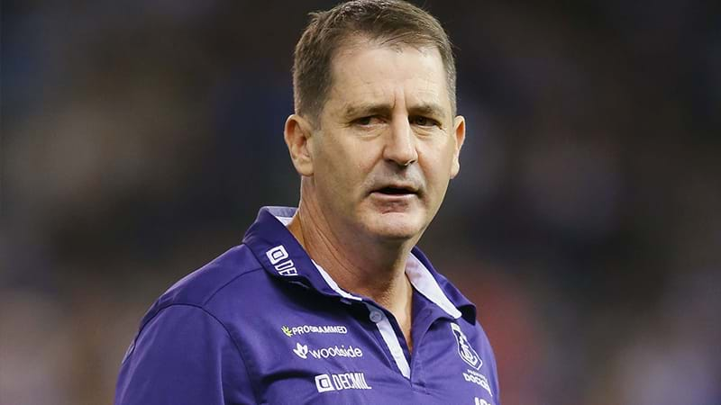 Fremantle stands by an under-pressure Ross Lyon
