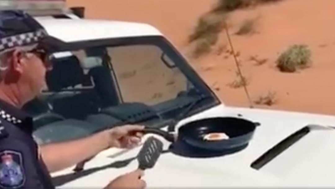 Cop Fries An Egg On The Bonnet Of His Car During Massive Heat Wave