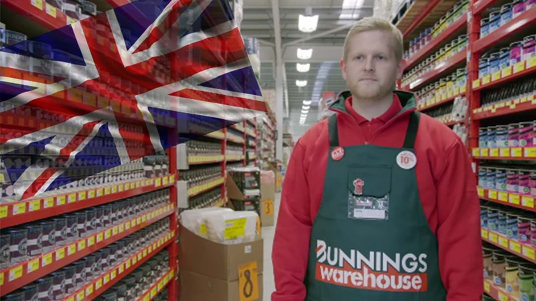 London Bunnings Releases Their First Ads With Pommy Staff